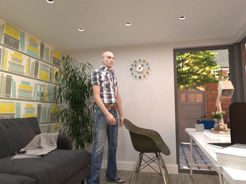 There is plenty of headroom in a 2.5m high garden office