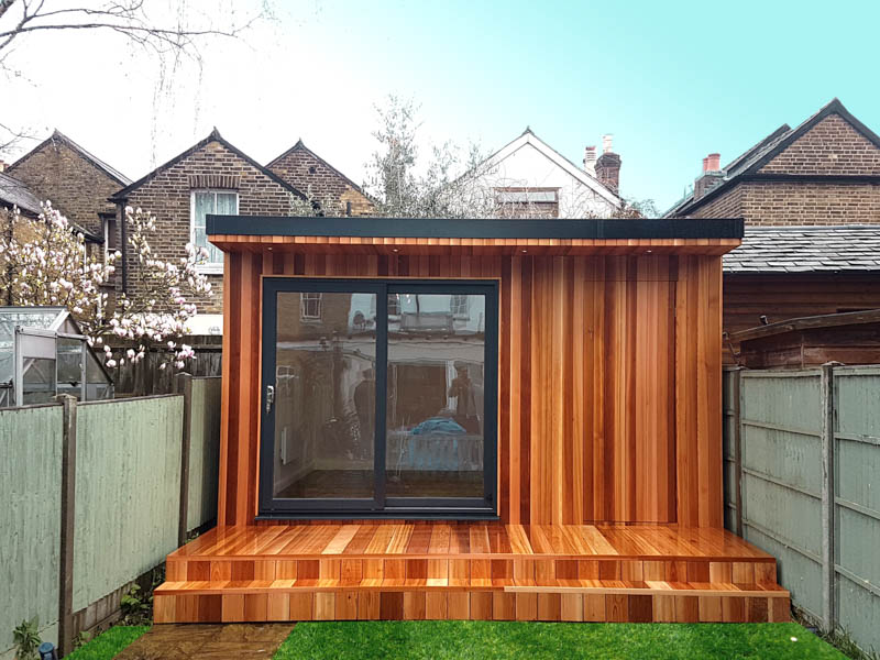 Garden office with wi-fi controlled heating