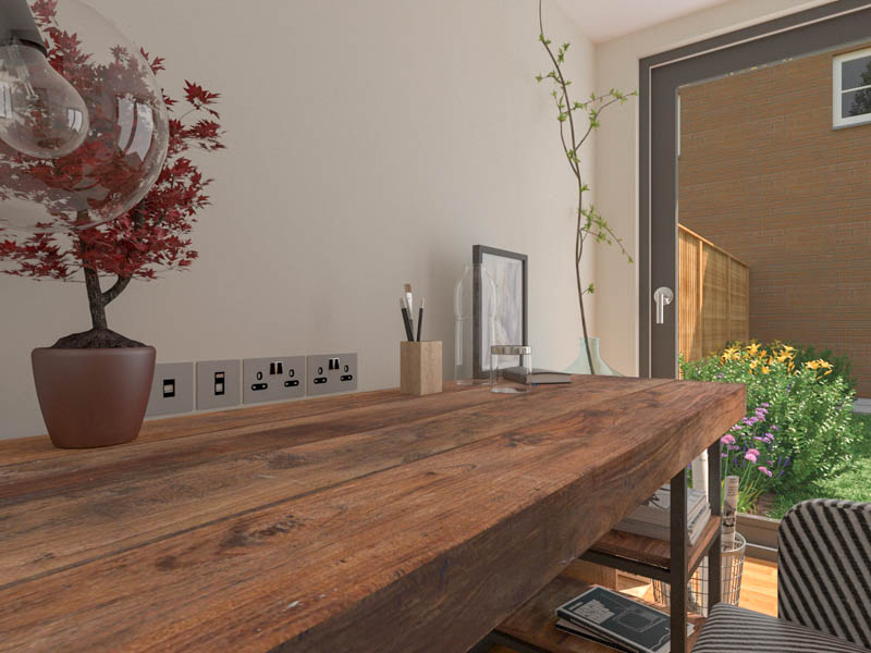 A quality garden office will come pre-wired electrically